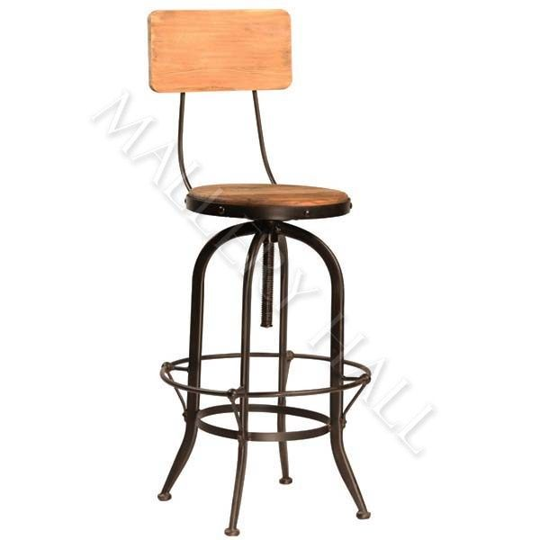 teak hardwood rolled arm bar stool bar stool leather your dr