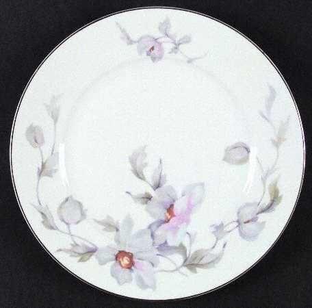 Thun Thuny Czech Pink Purple Flowers 16665 Dinner Plate