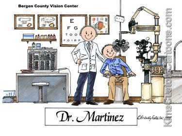 Personalized Optometrist Eye Doctor Cartoon Great Gift