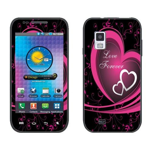 For Samsung i500 Fascinate Verizon Hot Pink/ White Love Forever Decal