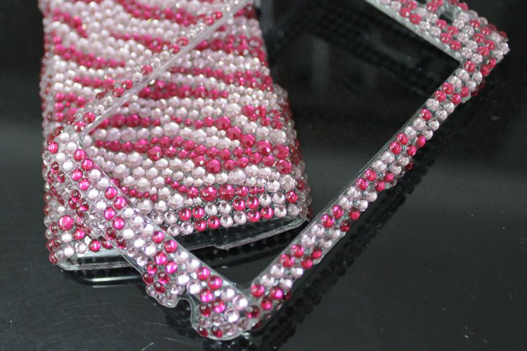 Diamond Pink Zebra Hard Case Cover for Blackberry 9550 storm 2