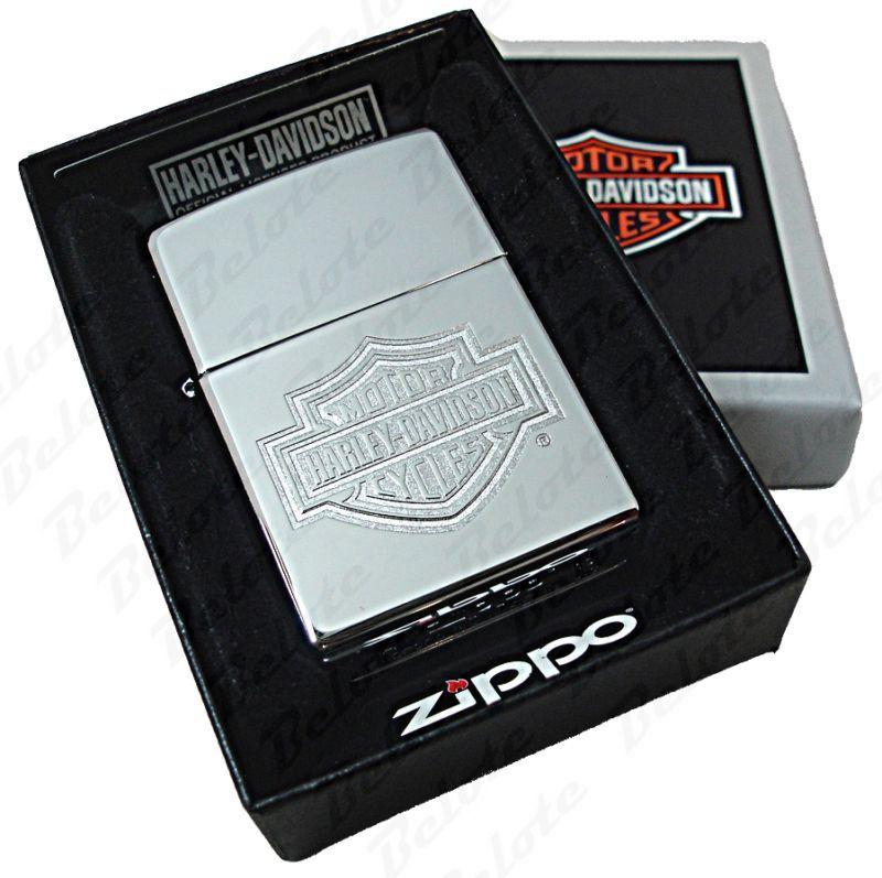 Zippo Harley Davidson Bar & Shield Chrome Lighter 24776