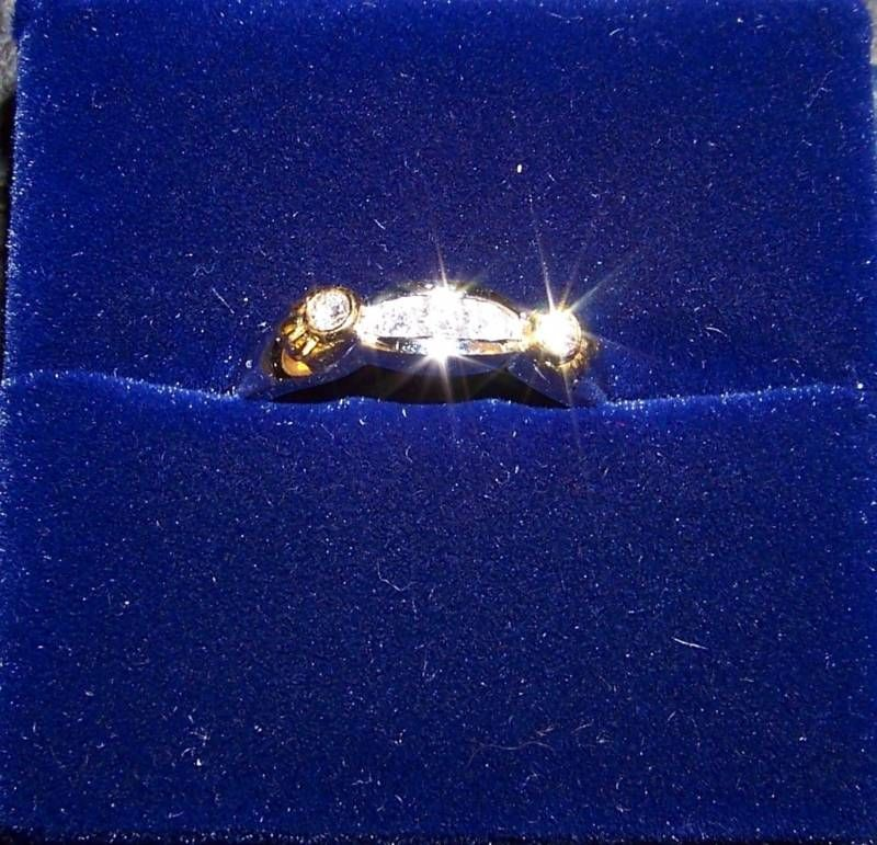 14K Yellow Gold/18K White Gold Diamond Ring 3.8 Grams