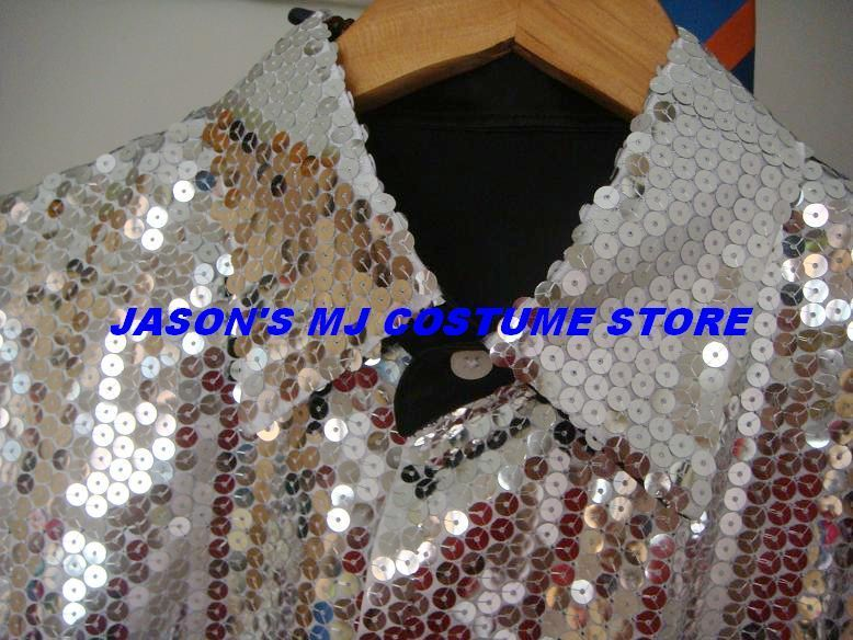 MICHAEL JACKSON BILLIE JEAN 25th MOTOWN SEQUIN SHIRT 1