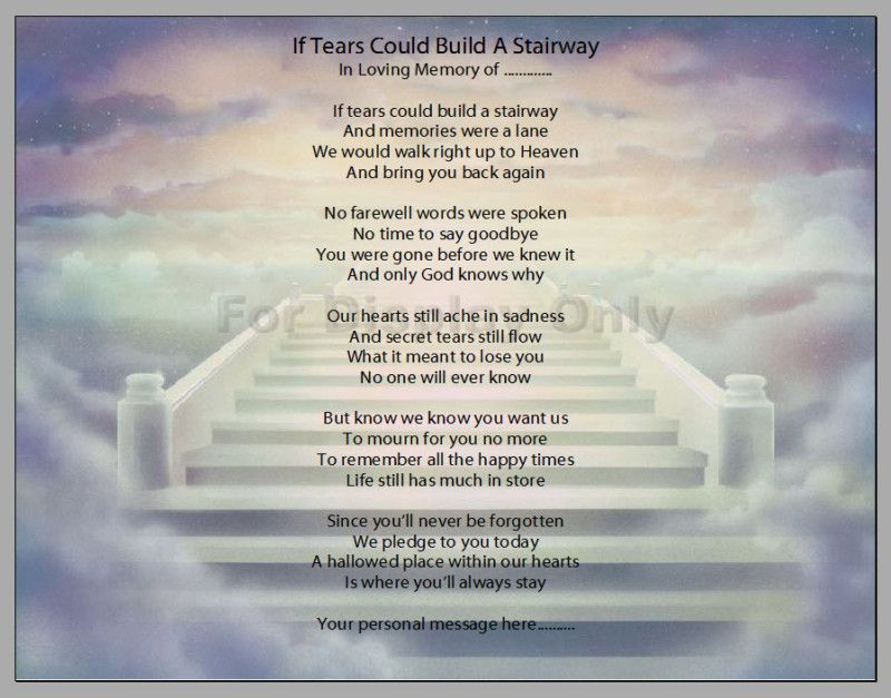 In Loving Memory Personalized Poem Print